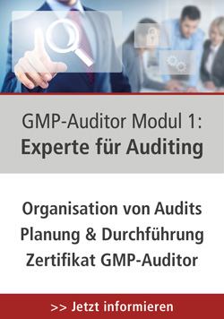GMP-Auditor Modul 1: Experte für Auditing, 16.-18.06.2020 in Baden-Baden