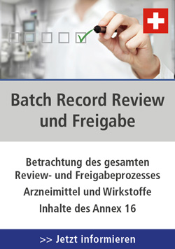Batch Record Review und Freigabe, 02.04.2019 in CH-Olten