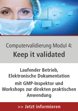Computervalidierung Modul 4: Keep IT Validated, 09.-10.06.2021 in dem PTS digitalen Seminar-Raum